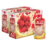 Happy Baby Organic Clearly Crafted Stage 2 Baby Food Bananas, Raspberries & Oats, 4 Ounce Pouch (Pack of 16) (Packaging…