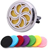 SCENTFUSEY: Best Essential Oil Car Diffuser. Add Your Own Essential Oils to Locket Vent Clip for Aromatherapy Benefits In Car|Home|Office Fans. Air Freshener With 7 Felt Pads, Gift Box & pdf eBook
