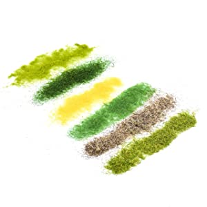 Beautyflier Pack of 6 Color Model Grass Turf Grass Powder Spring Green DIY Artificial Sand Static Grass Adhesive Material for Micro Landscape Material