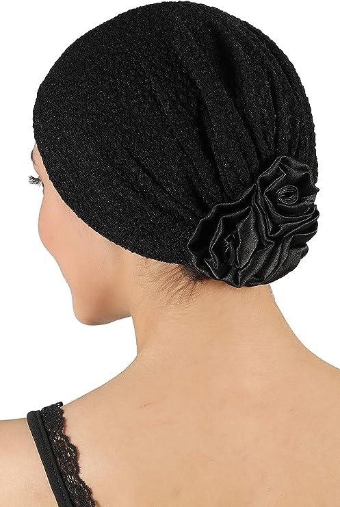 Deresina Headwear Brocade Con Rosa Gorros Oncologicos, Quimioterapia - Armada: Amazon.es: Ropa y accesorios