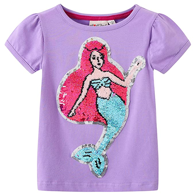 4695d014a Glitter Flip Sequin Girl's T-Shirt Top Short/Long Sleeve, Fleece Jacket,