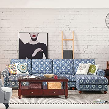 Mordern Sectional Corner Sofa Indoor Fabric Sofa Lounge Sofa Bed Living  Room Furniture Home Decor With