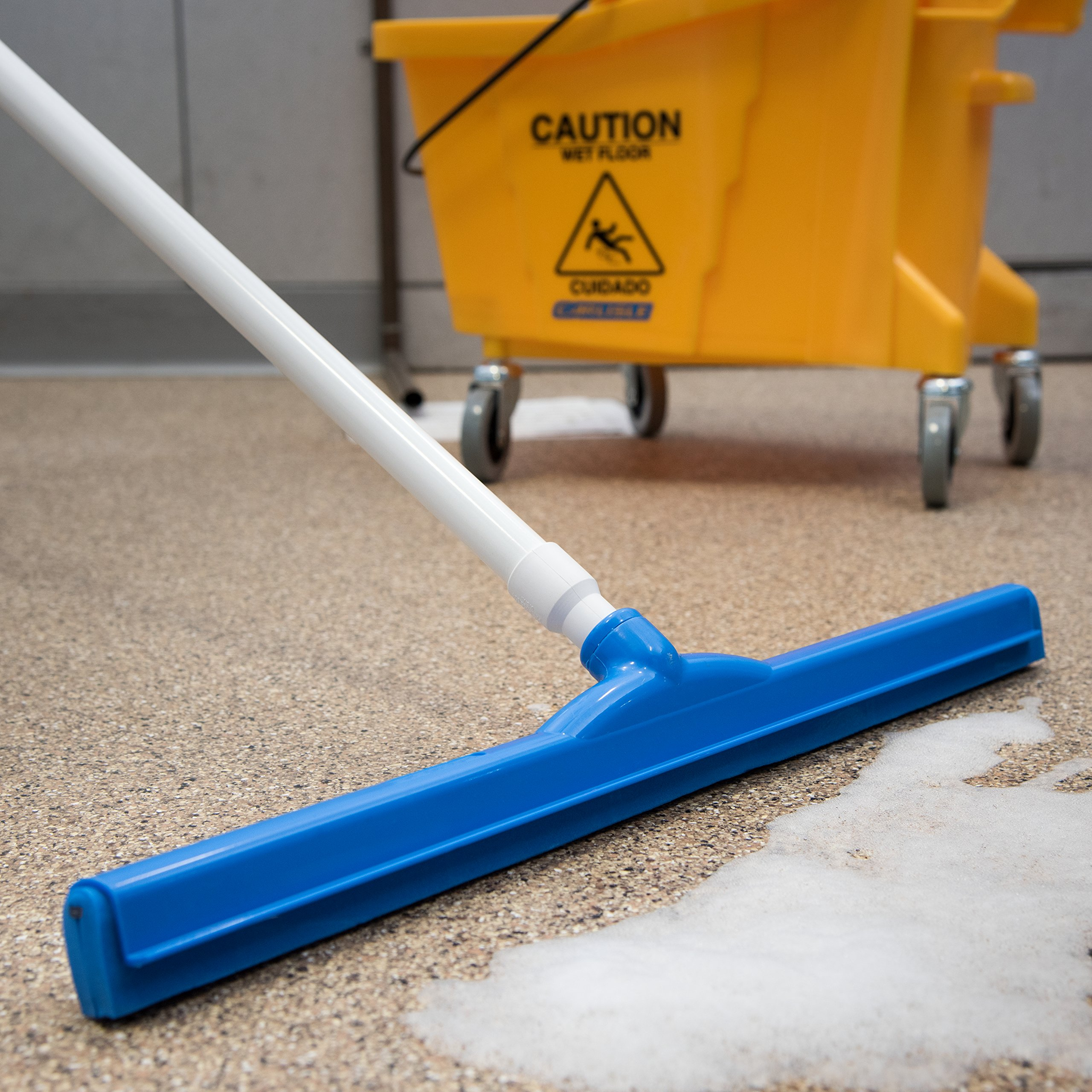 Carlisle 4156814 Spectrum Double Foam Rubber Hygienic Floor Squeegee, 24'' Width, Blue (Case of 6) by Carlisle (Image #6)