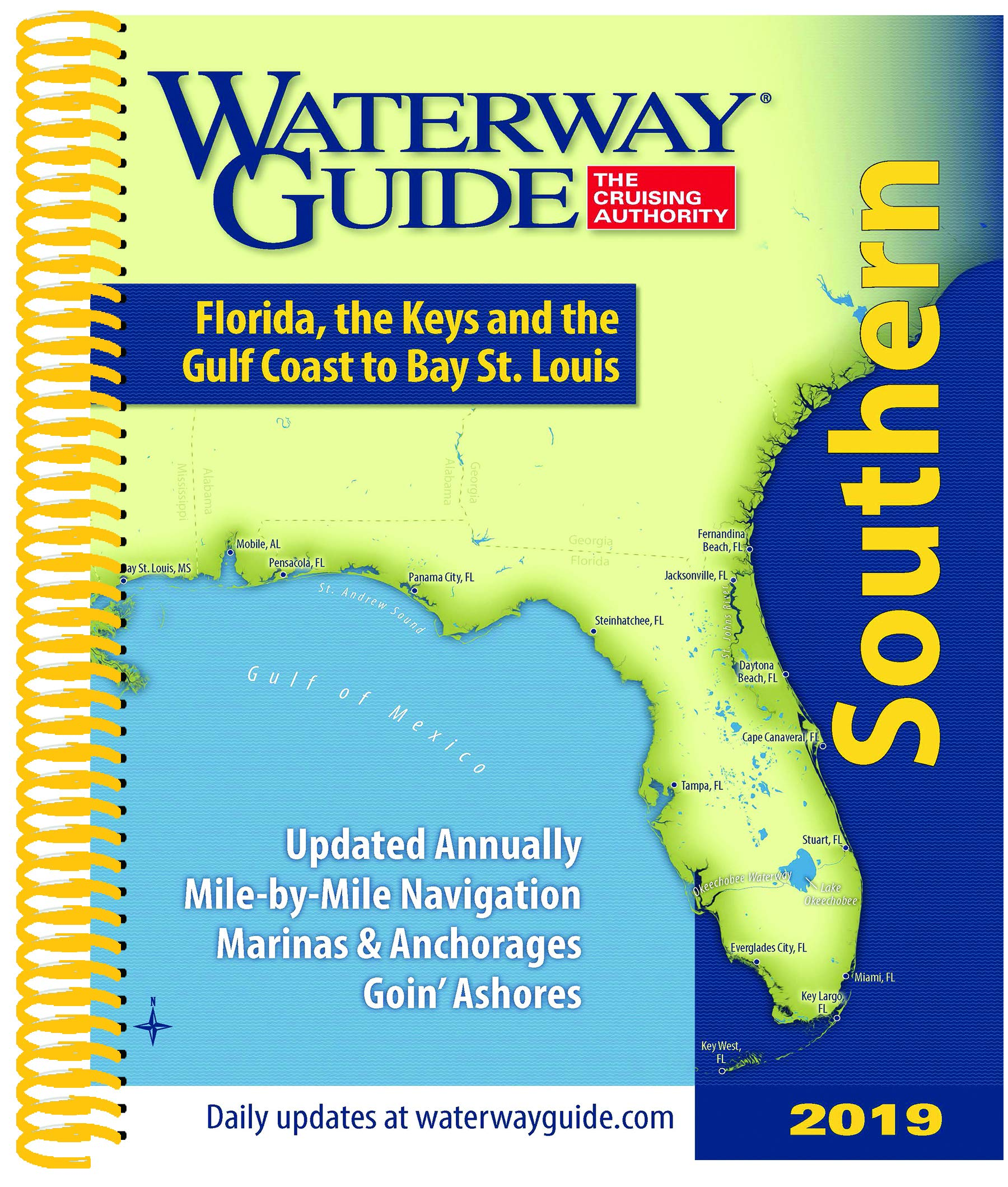 Waterway Guide Southern 2019: Florida, the Keys and the Gulf Coast by Waterway Guide