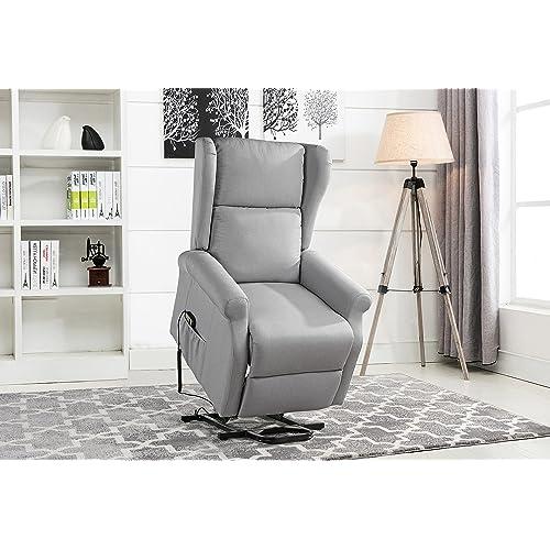 chair lift elderly swivel power recliner chair lift chairs linen living room reclining armchair light grey chair recliners for elderly amazoncom