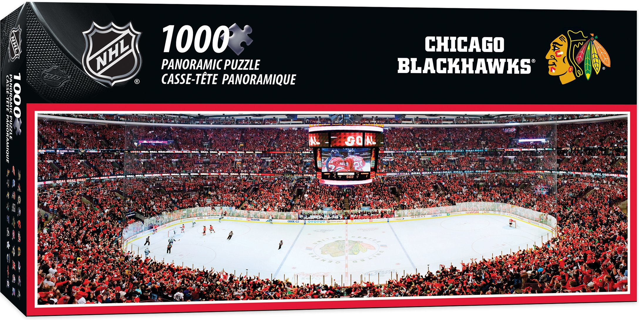 MasterPieces NHL Chicago Blackhawks 1000 Piece Stadium Panoramic Jigsaw Puzzle