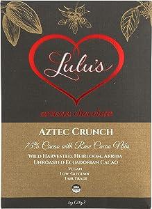 Lulu's Chocolate Bar, Aztec Crunch, 1 Ounce