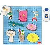 Goula - Puzzle baño, 8 piezas de madera (Diset 53032)