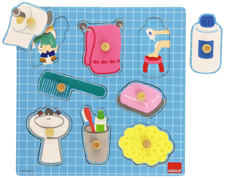 Goula Puzzle baño piezas de madera Diset