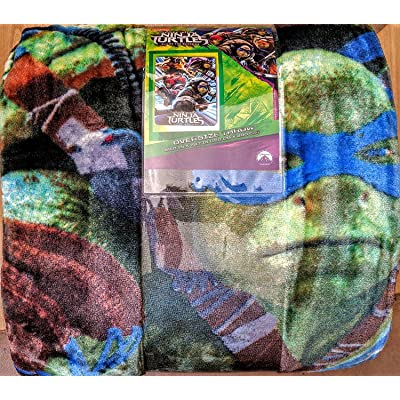 "Teenage Mutant Ninja Turtles 59""x78"" Oversize Throw - Perfect for any Occasion!: Home & Kitchen"