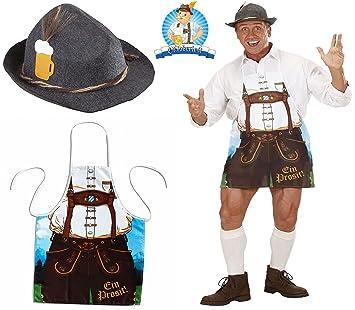 Mega Jumble Bavarian Man Deluxe Felt Disguise Hat   Bavarian Man Apron Lederhosen  Men s Oktoberfest Bavarian German 1651531c9c3a