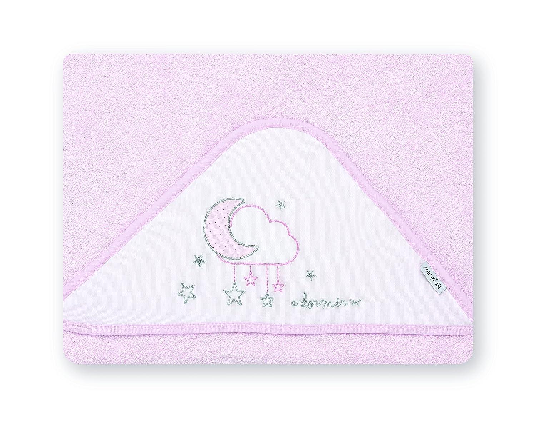 Petite stars 00722814 - Maxicapa, diseño nube, 100 x 100 cm, color blanco y rosa Coimasa