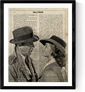 Nacnic Prints Casablanca Hollywood - Set of 1 - Unframed 8x11 inch Size - 250g Paper - Beautiful Poster Painting for Home Office Living Room