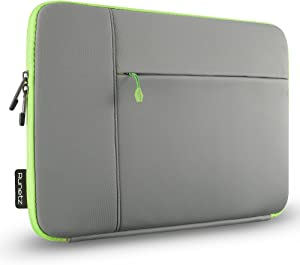 "Runetz Laptop Sleeve 13 inch Neoprene MacBook Sleeve Case - Perfect Mac Sleeve Cover with Pocket for Your MacBook Pro 13 inch Sleeve and MacBook Air 13.3"", Laptop Bag 13 inch Display Size - Grey-Green"