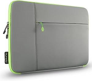 "Runetz Laptop Sleeve 13 inch Neoprene MacBook Sleeve Case - Perfect Mac Sleeve Cover with Pocket for Your MacBook Pro 13 inch Sleeve and MacBook Air 13.3"", Laptop Bag 13 inch Display Size - Grey-Green"