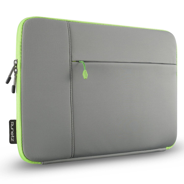 online retailer b4571 edd3d Runetz MacBook Pro 15 inch Sleeve Neoprene 15 inch Laptop Sleeve Case with  Accessory Pocket Cover Newest 2019 2018 - Grey-Green