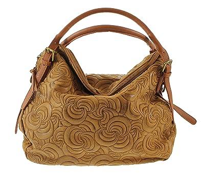 e6a59acbb3 OH MY BAG Sac à main femme en cuir suédé cognac: Amazon.fr ...