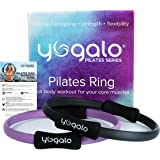 Pilates Ring - Toning, Sculpting, Strength and Flexibility, Power Resistance Exercise Circle, Thigh Toner, Fitness Magic Circle, 14 Inch Dual Grip Ring by Yogalo Pilates Series