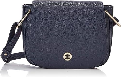 Tommy Hilfiger Th Core Saddle Bag Corp, Sacs bandoulière femme, Blanc  (Corporate),