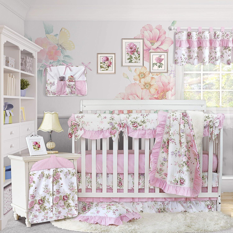 Amazon.com: Brandream Baby Girls Crib Bedding Sets with Crib Rail