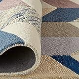 "Rivet Modern Geometric Wool Runner Rug, 2' 6"" x"