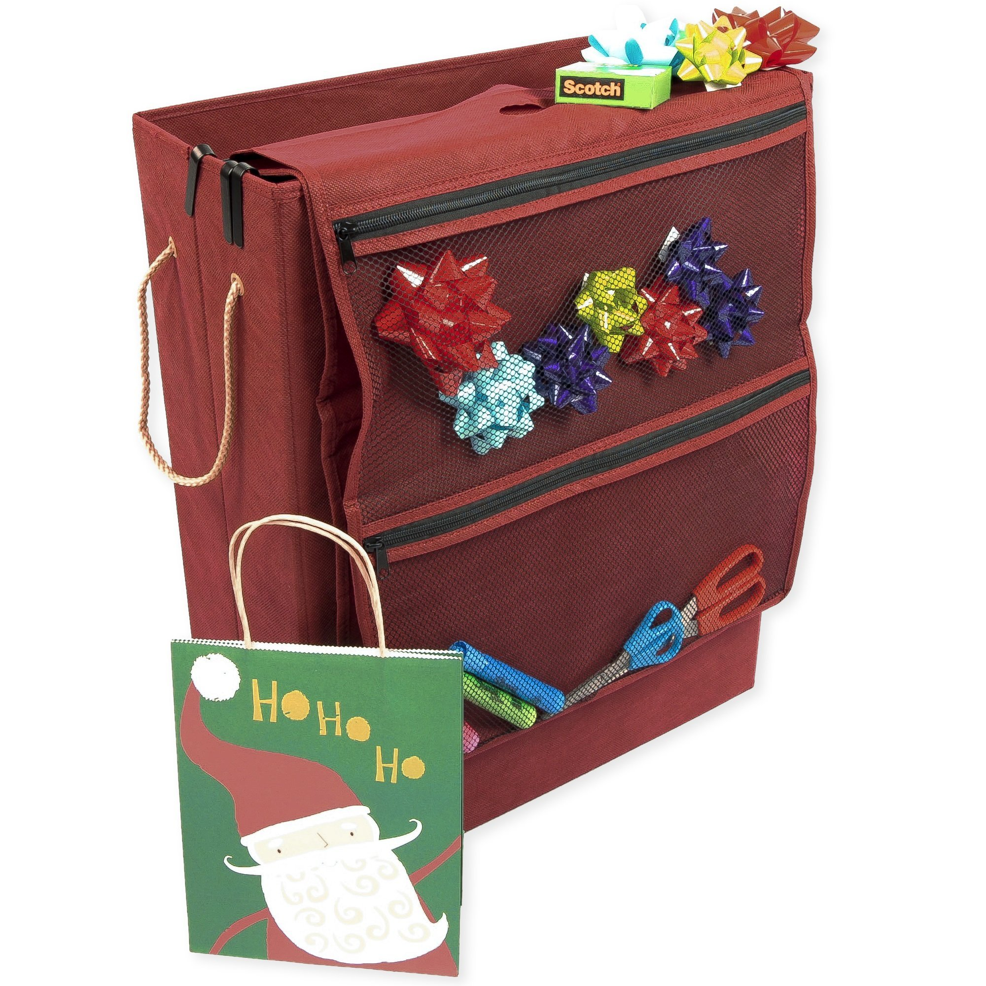 Santas Bags Decorated Gift Bag, Tissue, and Accessory Storage Box