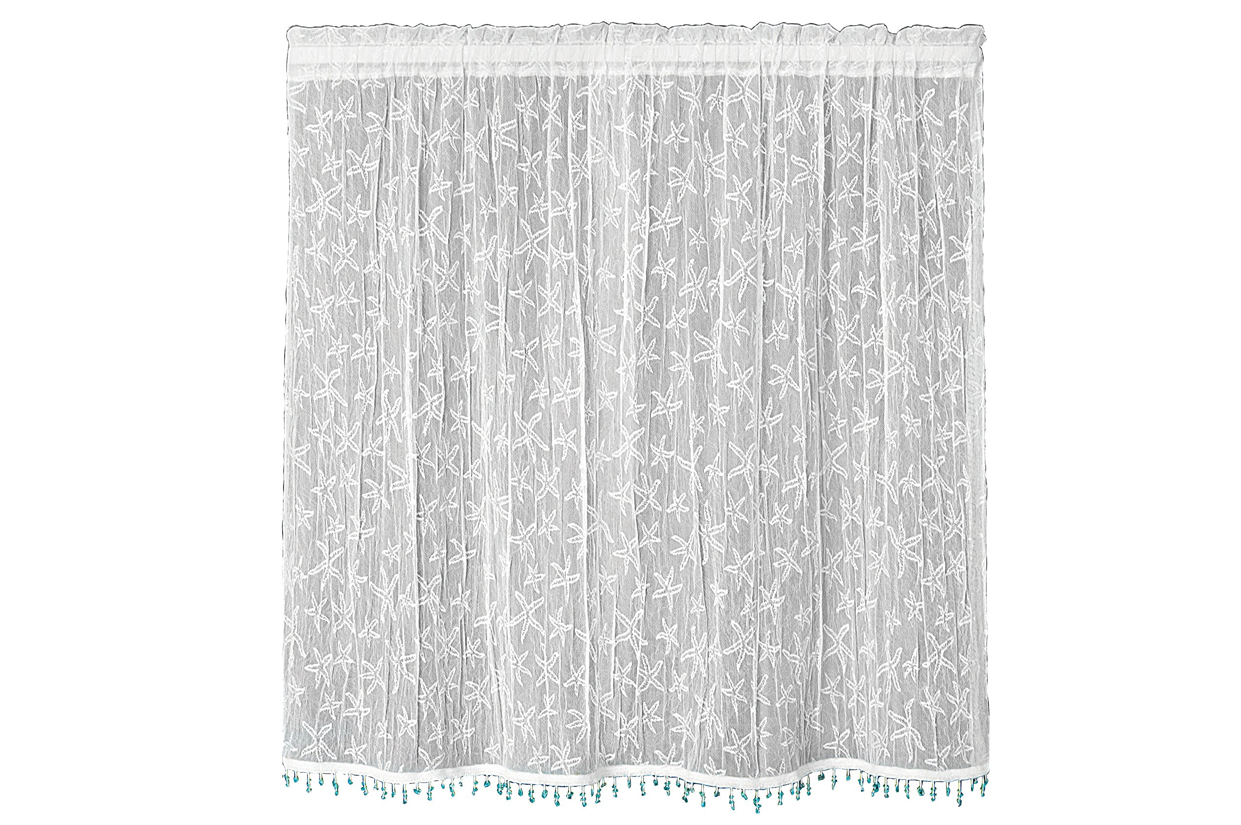 Heritage Lace Starfish Tier with Trim, 45 by 36-Inch, White by Heritage Lace