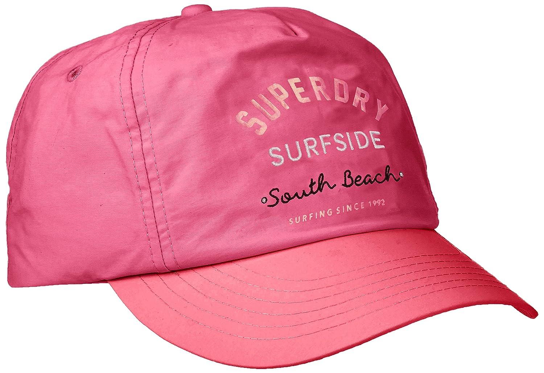 Superdry Oleta Cap Gorra de béisbol, Rosa (Neon Pink 24Y), Talla ...