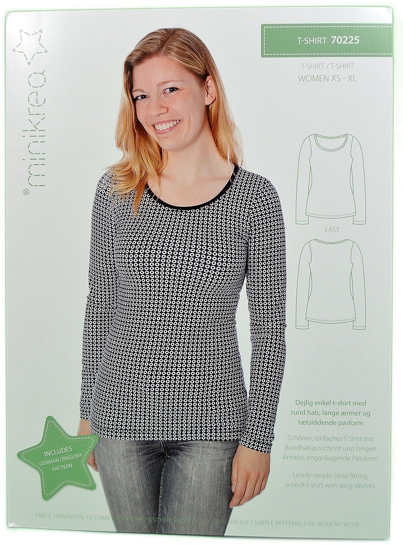 Schnittmuster T-Shirt für Frauen / Gr. XS-XL 32-50 / 7X0225: Amazon ...
