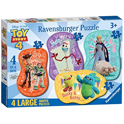 Ravensburger 06835 Disney Pixar Toy Story 4-4 Large Shaped Jigsaw Puzzles (10,12,14,16pc) - Value Set 4 Puzzles in a Box: Toys & Games