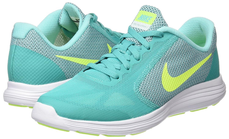 NIKE ' Revolution 3 (GS) Running Shoes B018IPWFIS 4.5 M US Big Kid|Clear Jade/Volt/Hyper Turquoise/White