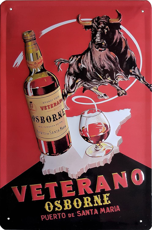 Osborne Veterano Cartel de Chapa, Original Veterano Puerto ...