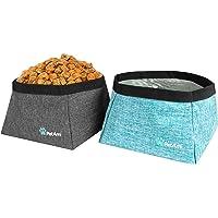 PetAmi tazones plegables para perros, paquete de 2 – tazón de agua portátil para perros, comida o agua | Contenedor de…