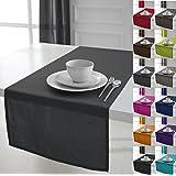 Chemin de table, 100% Coton, 50 x 150 cm Gris