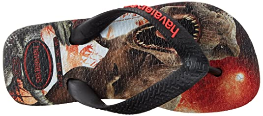 Amazon.com | Havaianas Kids Jurassic World Sandal Flip Flops (Toddler/Little  Kid), Black, 23-24 BR(9 M US Toddler) | Sandals