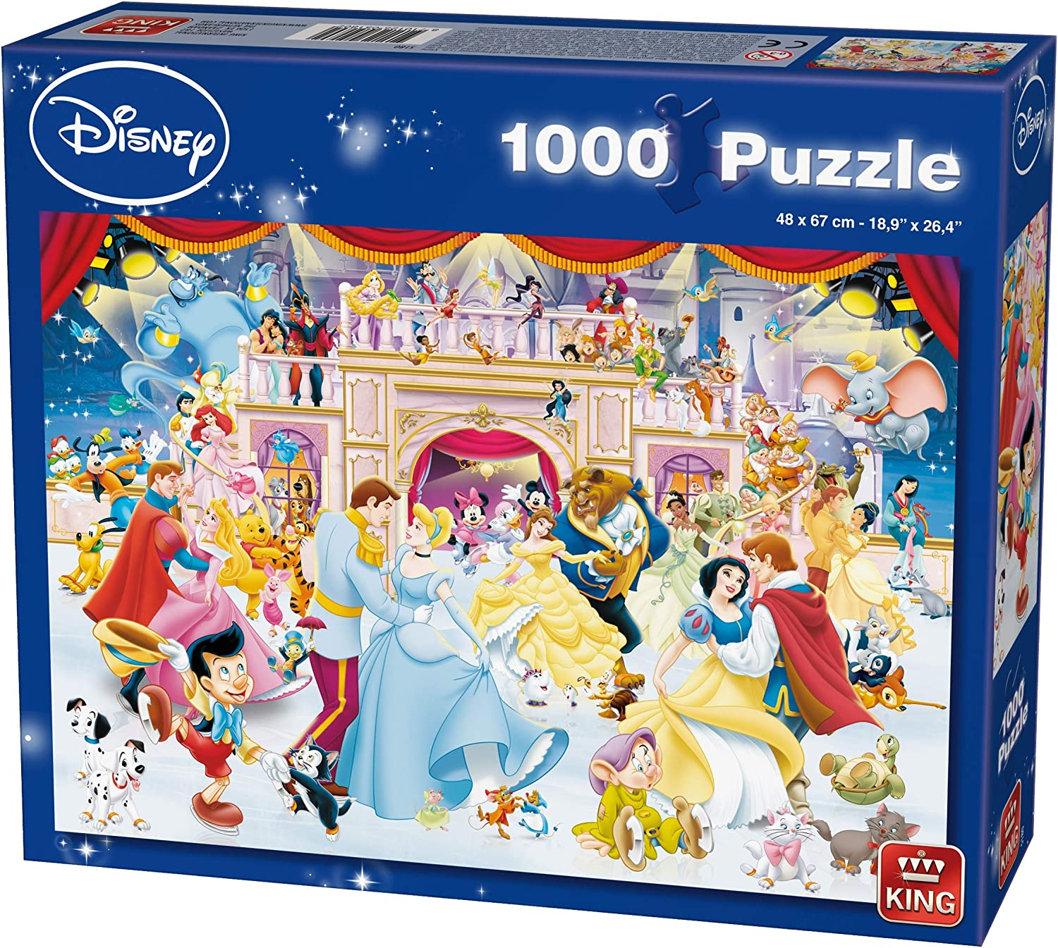 1000-Piece King KNG05180 Disney Puzzle Holiday on Ice Multicoloured