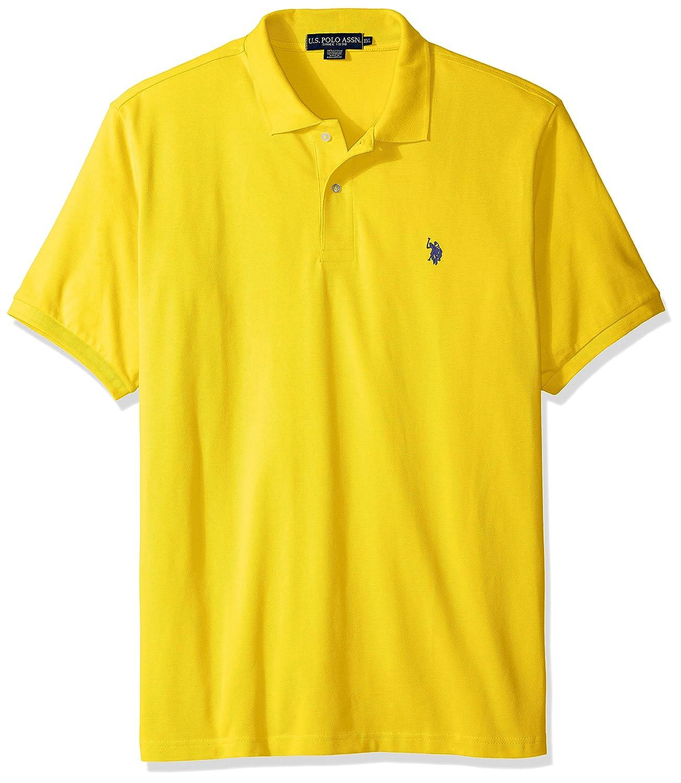 US Polo Assn Herren Poloshirt, Einfarbig