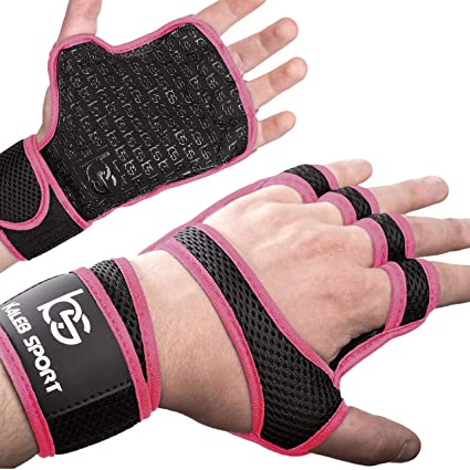 Powerlifting Fitness Weight Lifting Hand Grips with Wrist Wrap Support Guard Gym Workout Calisthenics Pull Up Bar Crossfit Gloves Training Palm Protector for Men /& Women Gymnastic WOD