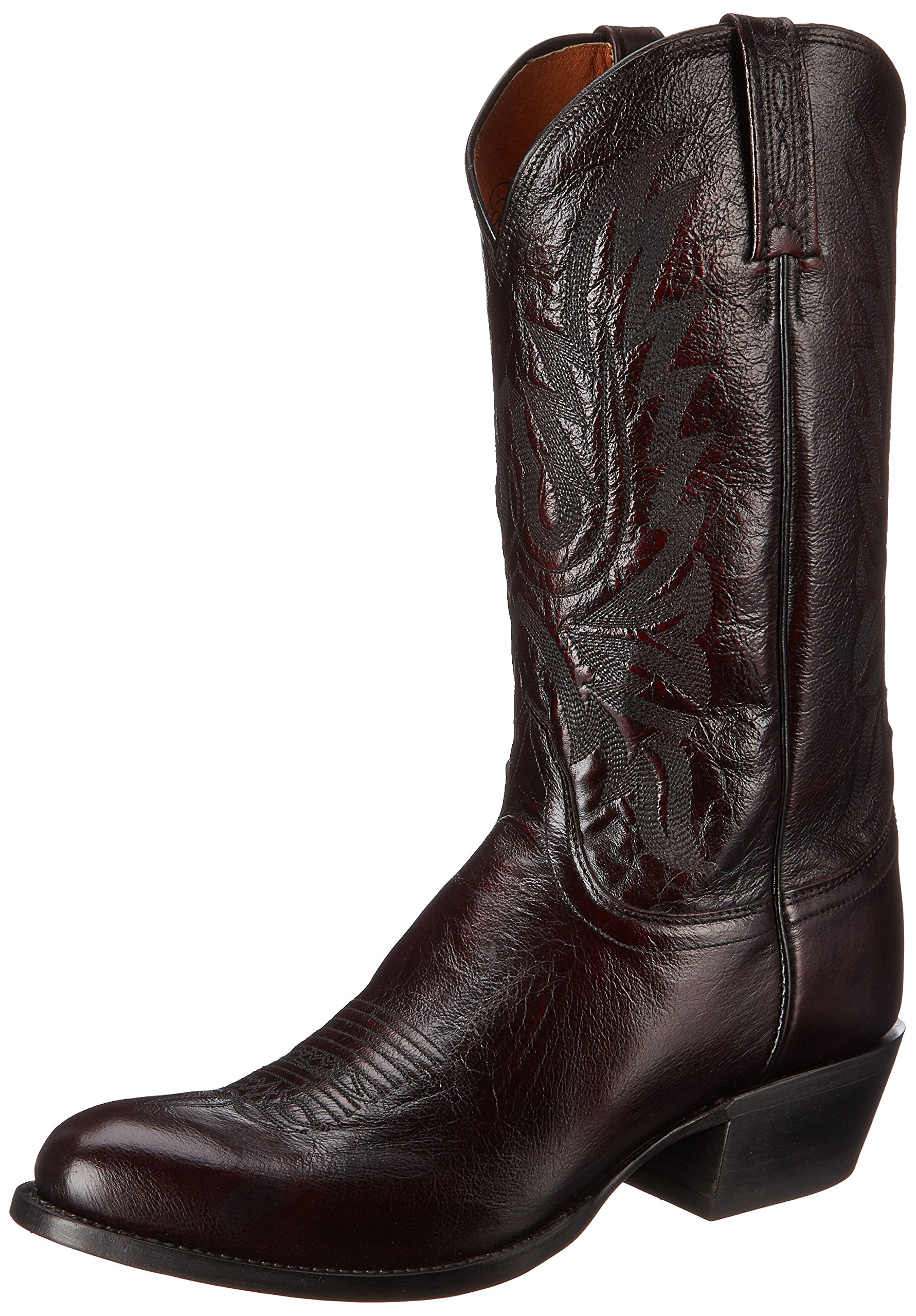 Lucchese Classics Men's Carson-bc Lonestar Calf Cowboy Riding Boot, Black Cherry, 10.5 D US by Lucchese Bootmaker