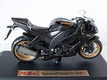 Kawasaki Ninja ZX 10R Schwarz Maisto Motorrad Modell 118