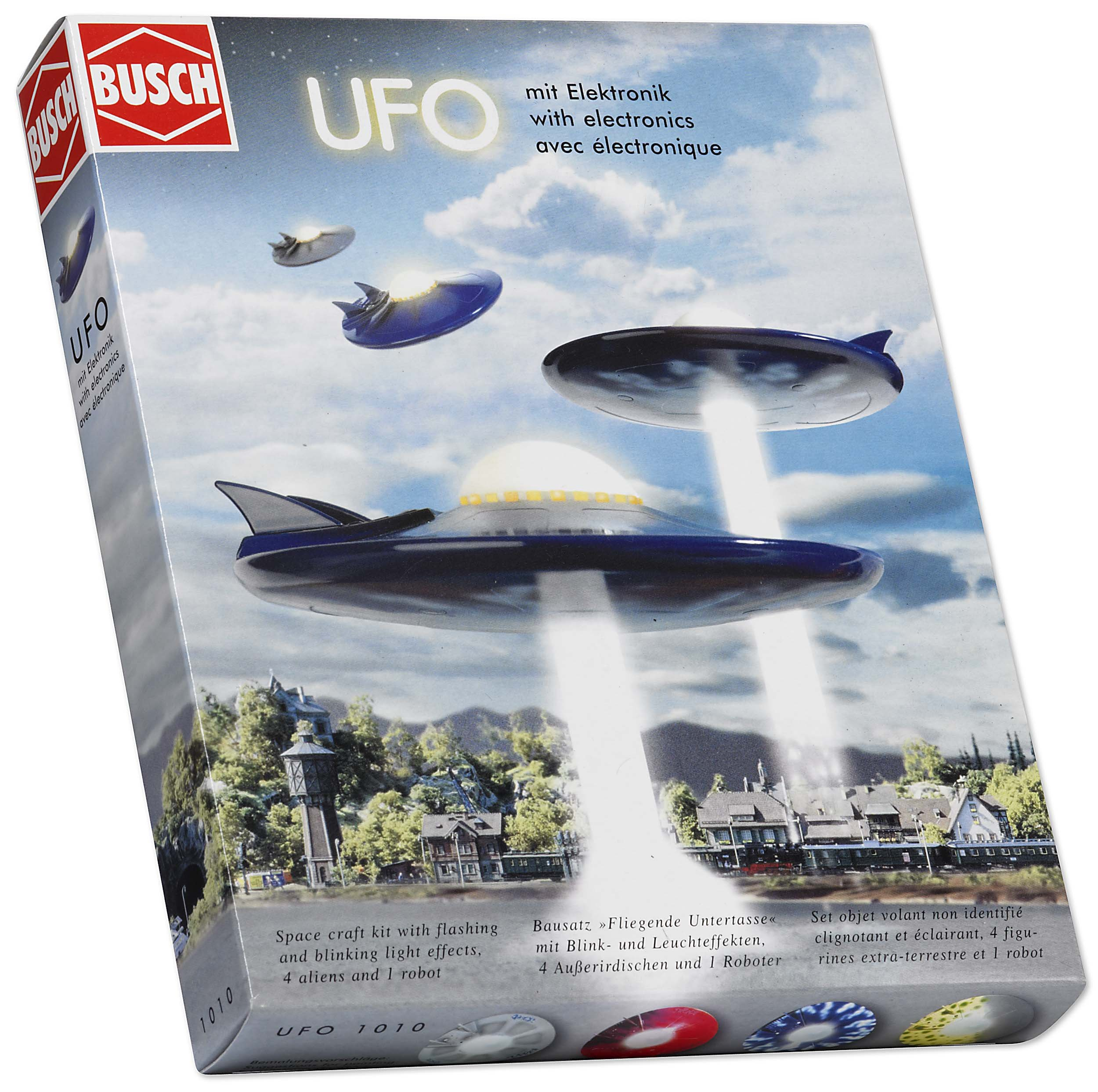 Busch 1010 UFO Flying Saucer with Figs HO Scale Building Kit