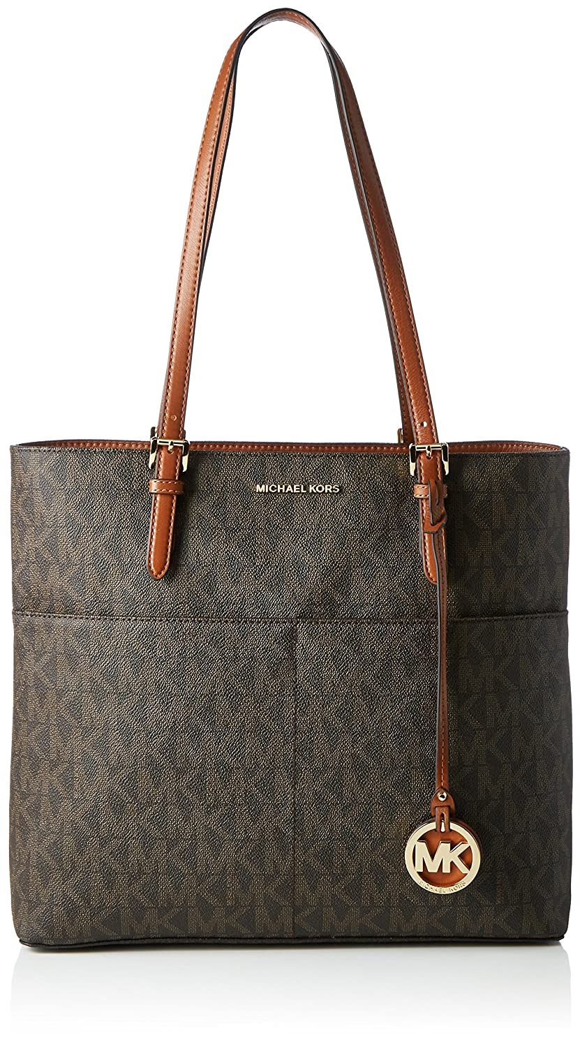 michael michael kors bedford large pocket tote color brown rh amazon com