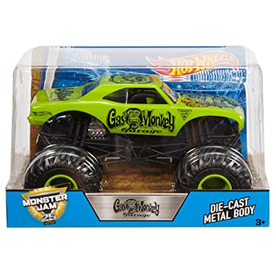 Hot Wheels Monster Jam Gas Monkey Vehicle: Toys & Games