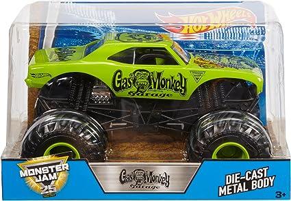 Amazon Com Hot Wheels Monster Jam Gas Monkey Vehicle Toys Games