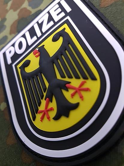 ATG - Insignia 3D para hombro de la Policía Federal Alemana, parche de goma: Amazon.es: Coche y moto