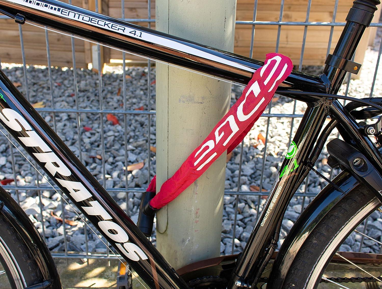 Edge Lucchetto per Bicicletta Granito Lucchetto a Catena con Catene in Acciaio per Bicicletta e Moto 6 mm