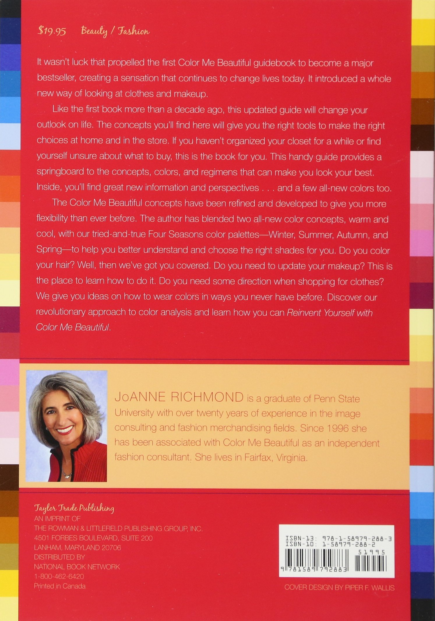 reinvent yourself with color me beautiful four seasons of color makeup and style joanne richmond 9781589792883 amazoncom books - Color Me Beautiful Book