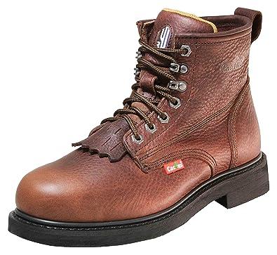 410ae516f6a0 Cactus Work Boots 6730 Dark Brown Size 5