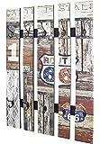 Haku Moebel 32850 Vestiaire Mural en Bois Vintage 9 x 65 x 100 cm