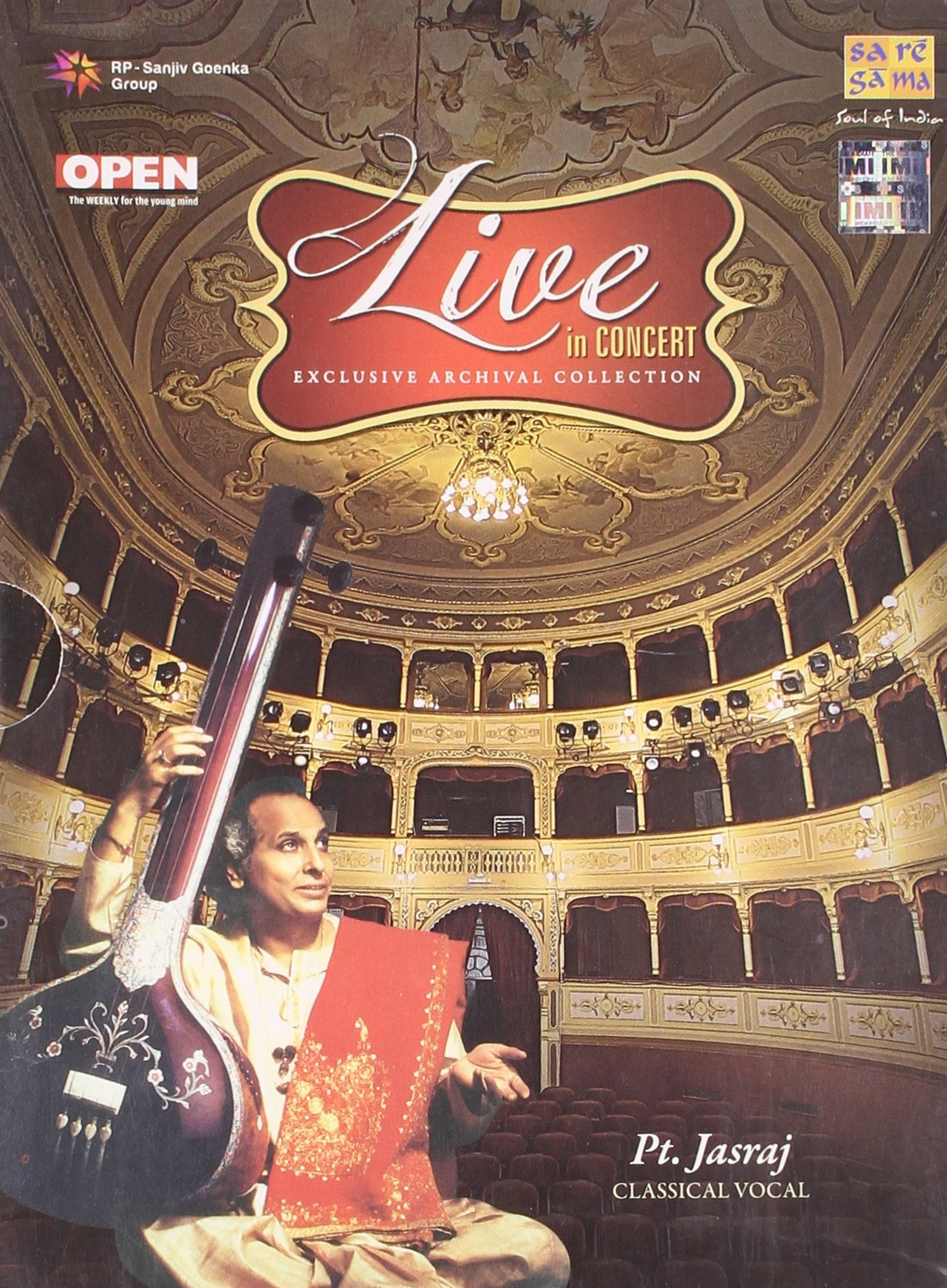 Live In Concert - Pt. Jasraj (Exclusive Archival Collection / Hindustani Classical Vocal / 2-CD Set)